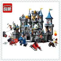ENLIGHTEN 1023 Medieval Lion Castle Knight Carriage Building Block Compatible Legoe 1393Pcs Toys For Children