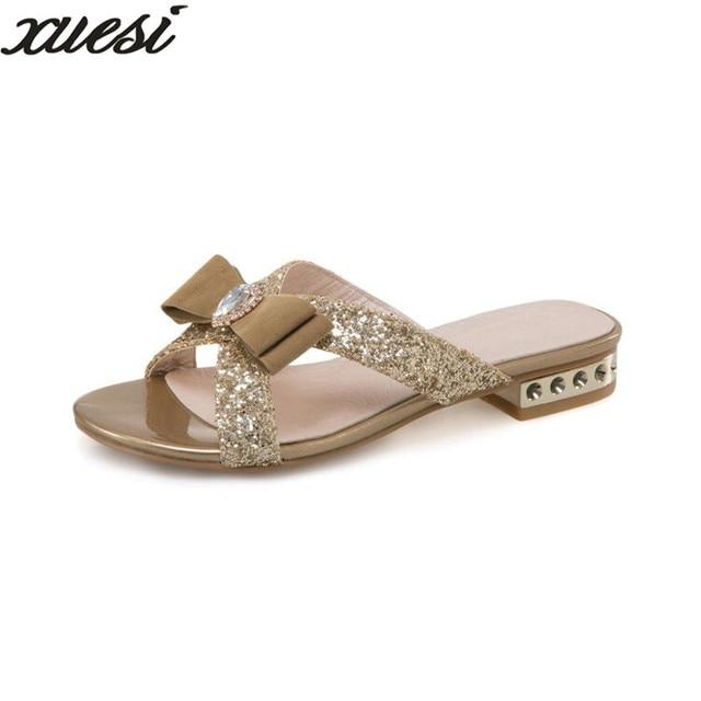 Lazy Flat Sandalo Pelle Slippers Feminino Minion Slippers Sapato Feminino Slippers   462734
