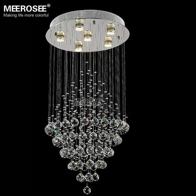 Lange Kristall Deckenleuchte Runde Kristall Lampe Für Foyer Wohnzimmer K9  Kristall Tropfen Beleuchtung Hochwertigen 100%