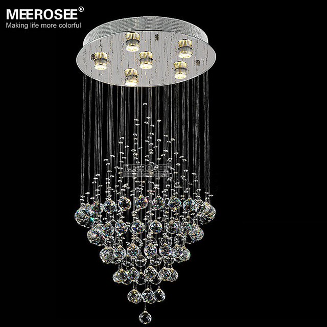 Long crystal ceiling light round crystal lamp for foyer living long crystal ceiling light round crystal lamp for foyer living room k9 crystal drop lighting top mozeypictures Gallery