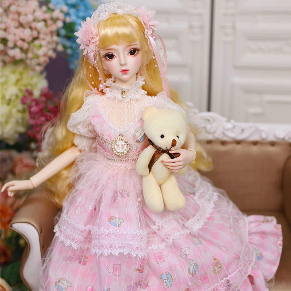 DBS 1/3 BJD Blyth имя куклы Елены механическое соединение тела с макияжем, в том числе волосы, глаза, одежда 62 см Высота девушки ледяной, SD