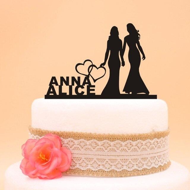 Frete grtis personalizado lesbian wedding cake topper decorao do frete grtis personalizado lesbian wedding cake topper decorao do casamento de acrlico bolo topper mrs junglespirit Gallery