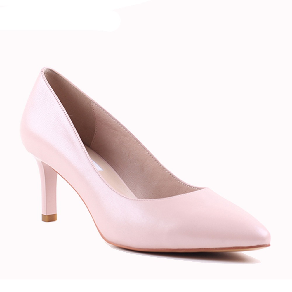 2426abfe48d4 Bacia Genuine Leather High Heel Shoes Summer Pink Women Classic 6cm Thin  Heel Pointed Toe Pumps