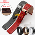 Laopijiang huawei b2 b3 acessórios pulseira de relógio pulseira de couro pulseira de relógio inteligente business edition esportes pulseiras