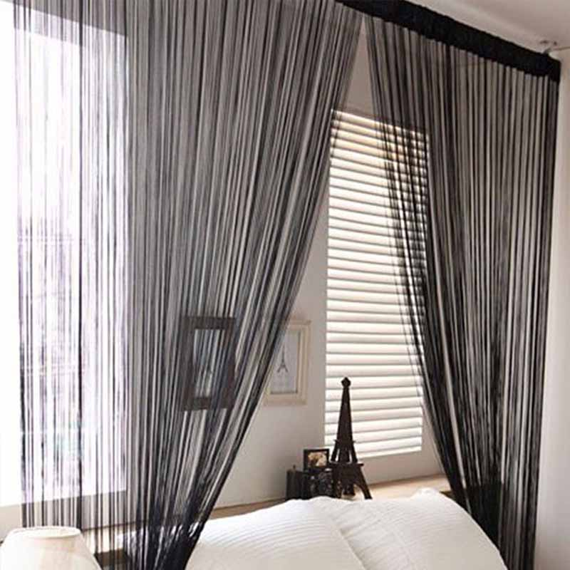 300cm 300cm Window Blinds Solid Color Classic Line Curtain Rope Decoration Vertical Blinds Divider Line