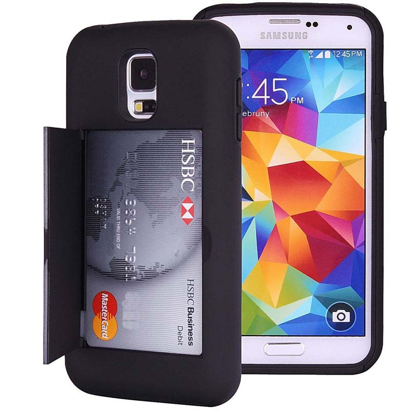 designer fashion 6aa7b 7e556 US $3.99 |LANCASE For Samsung S5 Case Shockproof Hard Phone Cover For  Samsung Galaxy S5 S6 S7 EDGE Case with Card Slot Heavy Duty Cover on ...