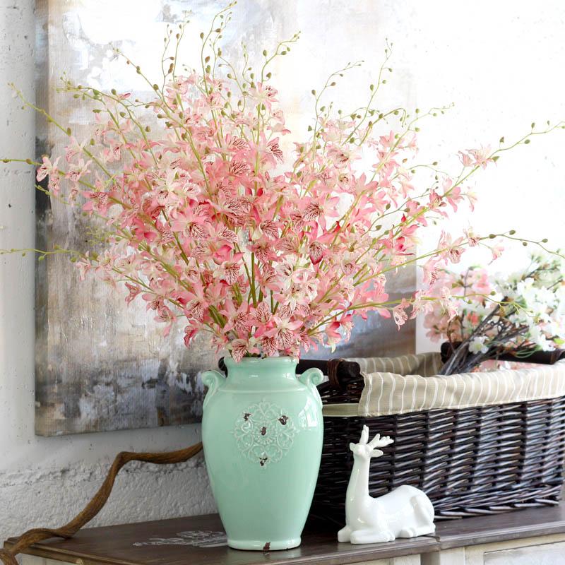 Tanzen Orchidee, Dendrobium Orchidee Blume Anordnung, Vergossen Landschaft  Anordnung Von Blumen, Festival Geschenke