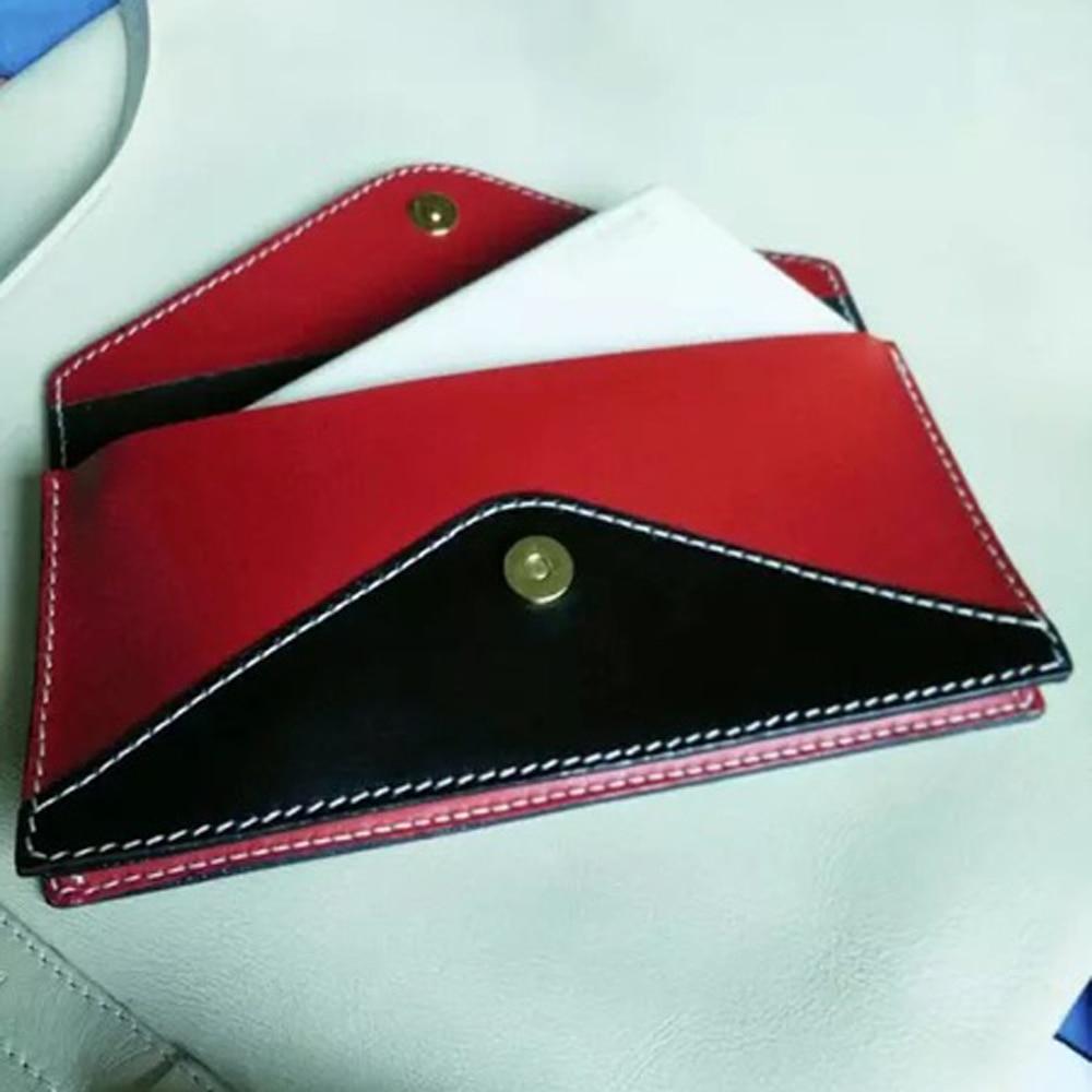 Womens Ladies Envelope Wallet Purse Multi color Leather Style Patch