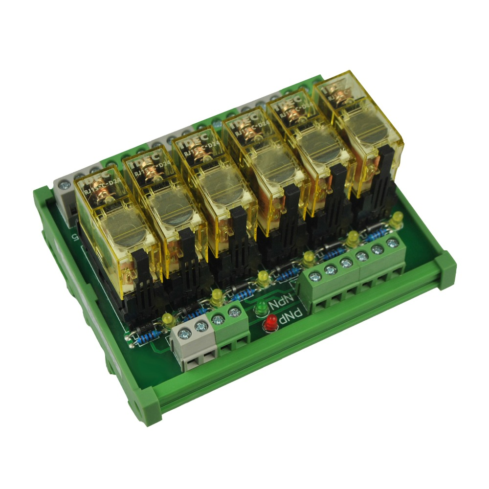 6 Channel 1 Spdt Din Rail Mount Idec Rj1s Interface Relay Moudle In 8 Pin Wiring Diagram Relays From Home Improvement On Alibaba Group