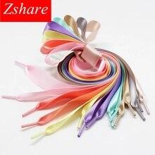 1Pair Satin Silk Ribbon Shoelaces off White Sneaker shoes lace  Canvas shoe laces 2cm Width 80cm/100cm/120cm Length 20colors