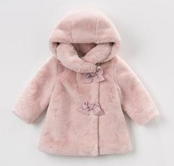 2019 Winter Baby Girl Coats Children Faux Fur Warm Thick Vest Girls Princess Christmas Outerwear For 3-10Yrs New Year Clothes