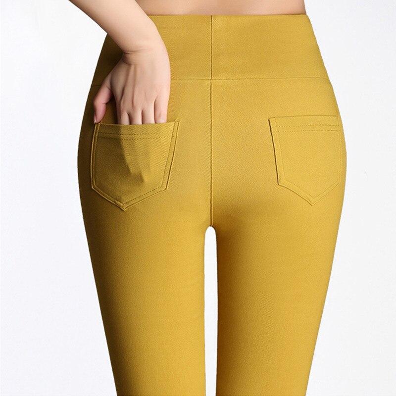 Dámské tužky kalhoty Paige Vysoce elastický korejský styl Volný čas Vysoce kvalitní kalhoty 2017 módní S-3XL velikost