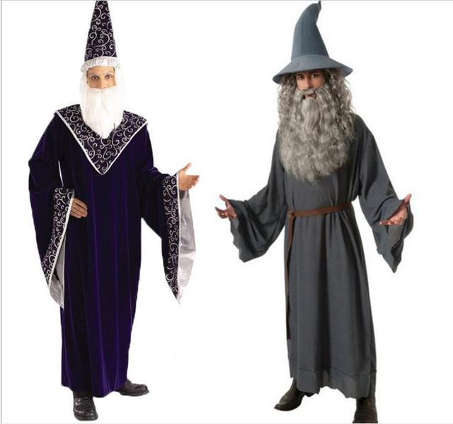 hot halloween costumes adult gothic wizard costume religious men priest uniform gandalf cosplay costume witch dress