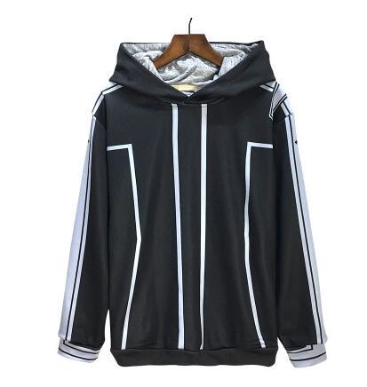 [Stock] Game Sword Art Online Kirigaya Kazuto SAO uniform halloween Cosplay cosumes Hoodies coat top cos Costume L-3XL Hot Sale