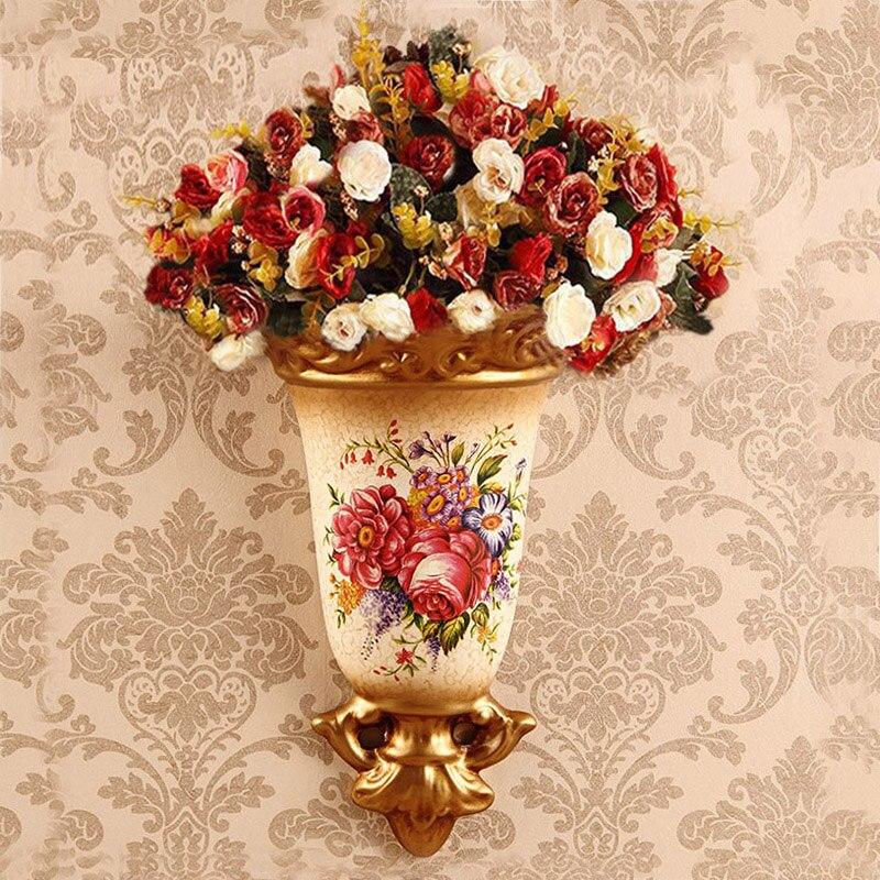 Ceramic Wall Flower Decor: Wall Wall Decoration Flower Pot Creative Ceramic Home Wall
