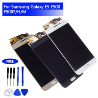 LCD Display Touch Screen Digitizer for Samsung Galaxy E5 E500 E5000 E500F/H Screen Assembly Replacement