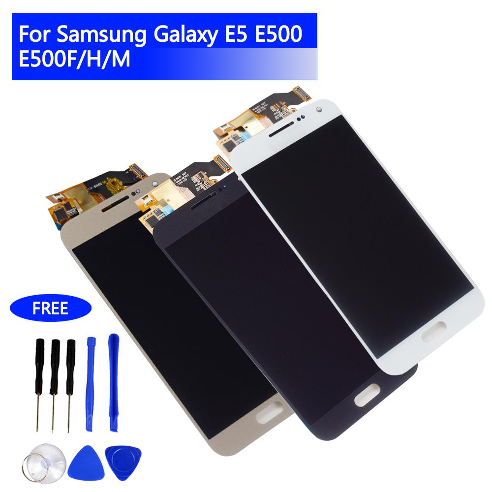 <font><b>LCD</b></font> Display Touch <font><b>Screen</b></font> Digitizer für <font><b>Samsung</b></font> <font><b>Galaxy</b></font> <font><b>E5</b></font> E500 E5000 E500F/H Bildschirm Montage Ersatz image
