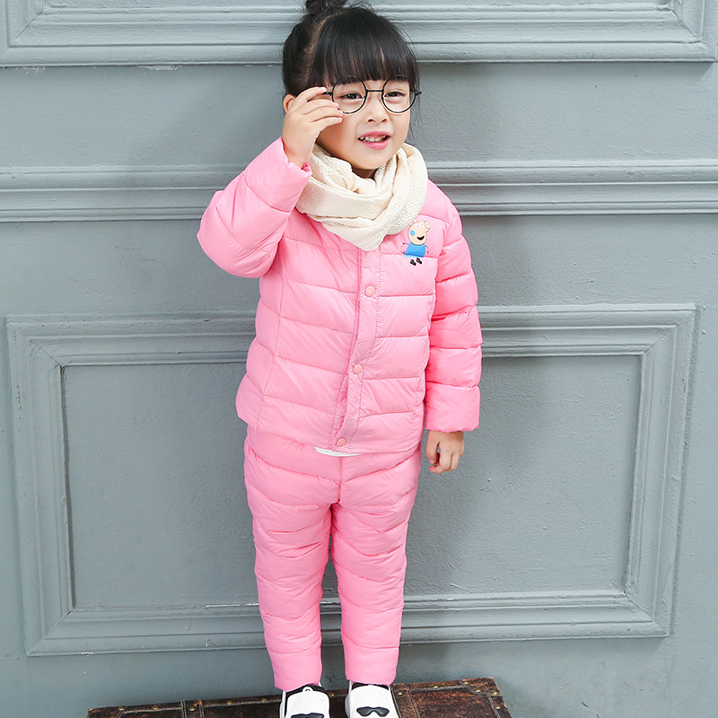 Clothing Sets Warm Children Winter Suit Baby Kids Boys Girls Hoody Down Jacket + Trousers Waterproof Snow Warm Kids Clothes 1-5T warm baby boys clothing sets winter russia baby girl ski suit child outdoor clothes kids down coats jackets trousers jumpsuit