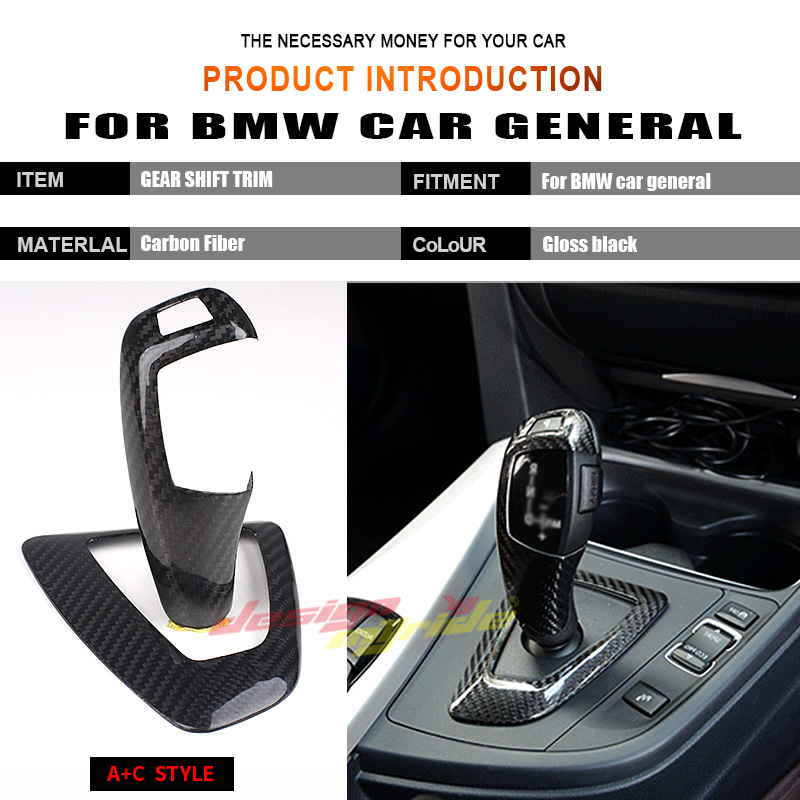 For BMW E90 E92 E93 318i 320i 328i Right hand drive Carbon car genneral Gear Shift Knob Cover Surround Cover interior trim A C in Gear Shift Knob from Automobiles Motorcycles