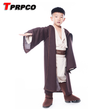 TPRPCO Boys Star Wars Deluxe Jedi Warrior Movie Character Cosplay Party Clothing Kids Fancy Purim Carnival Costumes C60178(China)