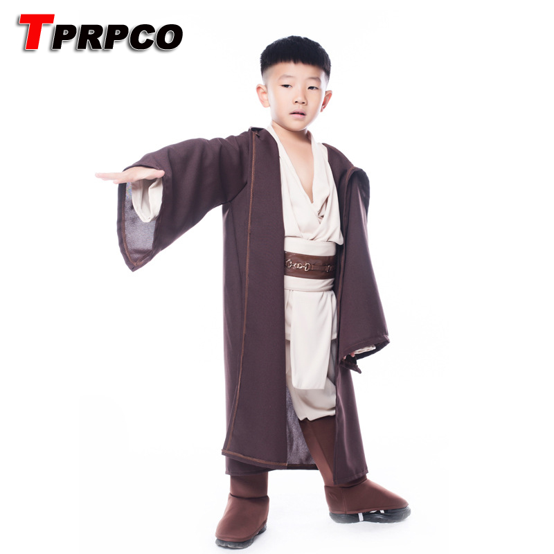 TPRPCO Boys Star Wars Deluxe Jedi Warrior Movie Character Cosplay Party Clothing Kids Fancy Purim Carnival Costumes NL177