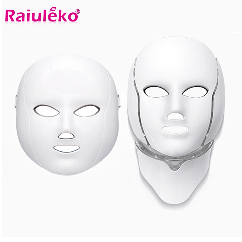 7 Color Lamp LED Beauty Mask Photon Therapy Facial Massage Anti-wrinkle Family Spa Whitening Skin Care Portable Beauty Machine