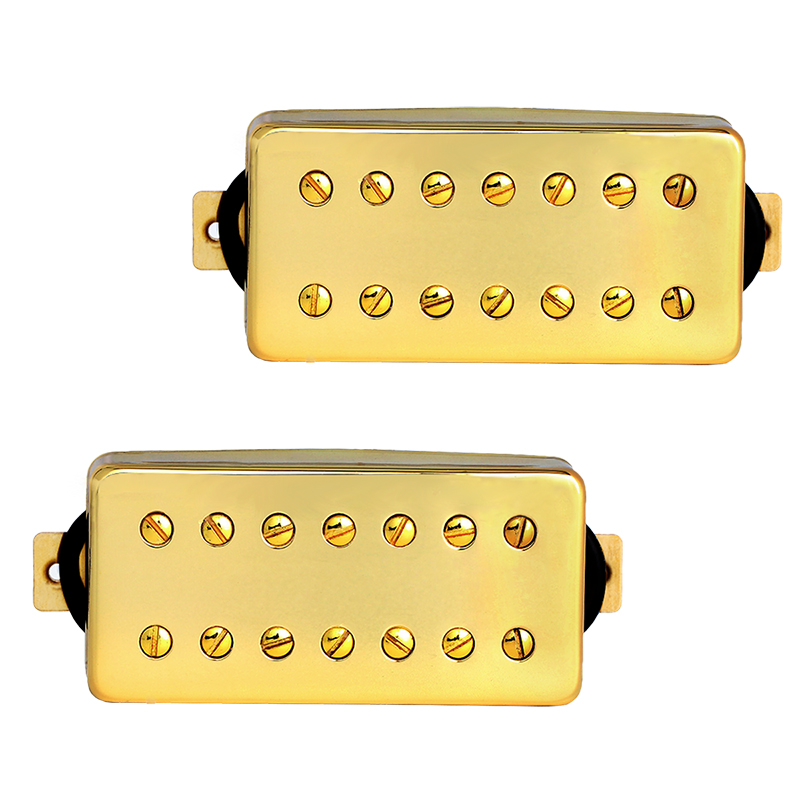 Electric Guitar Pickup 7 String Humbucker Pickups Bridge and Neck Set for Guitar Parts Replacement Gold belcat electric guitar pickups humbucker alnico 5 humbucking bridge neck chrome double coil pickup guitar parts accessories