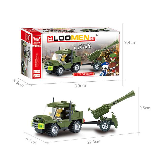 93pcs/set DIY Cannon Building Blocks Car Truck Assemble Toy