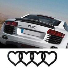 Сердце любовь логотип задний багажник знак герба Наклейка Стикеры Замена для Audi A3 A4 A5 A6L A8 Q3 Q5 Q7 TT RS3 RS5 RS8 S3