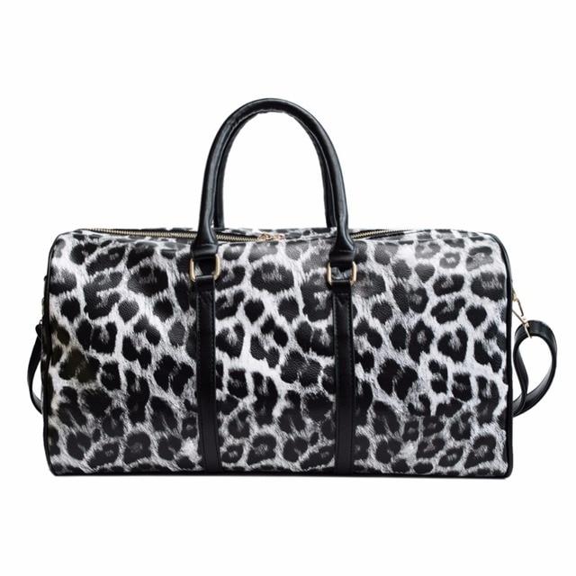 b0f2bf7fc044 Women Travel Bags 2018 Fashion Pu Leather Large Capacity Waterproof Print Luggage  women leather handbags Casual Travel Bags