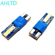 цена на 1 PCS Canbus W5W T10 8 smd 2835 Led For Auto Wedge Light Width Lamp Door Parking Bulb License Plate White Blue DC 12V