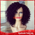 Wholesale Free shipping Heat Resistant Fiber Afro Kinky Curl Wig synthetic kinky curly lace front wig African American Short Wig
