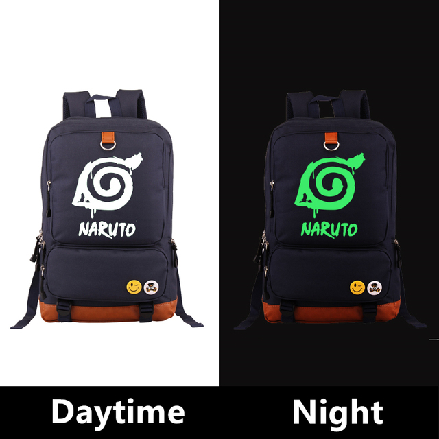 Naruto Luminous Canvas Backpacks Bags