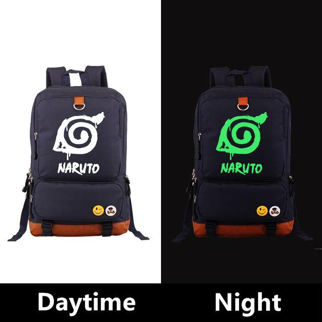 Naruto Luminous Canvas Backpacks Bags