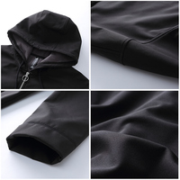 Pioneer Camp softshell waterproof jacket for men brand-clothing hooded black casual coat male windbreaker top quality AJK702376 4