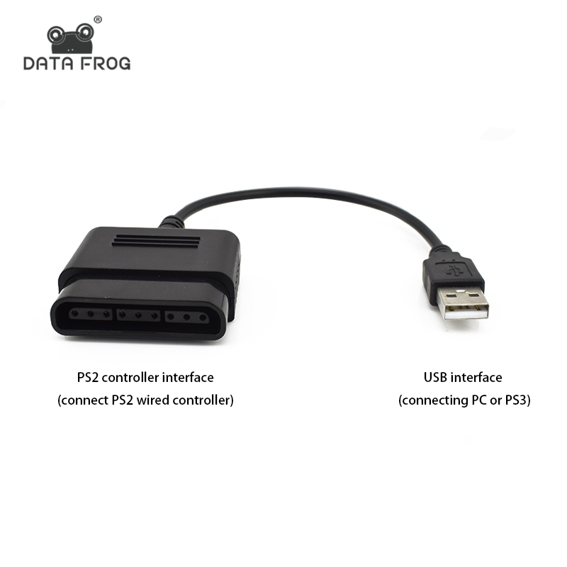 DATA FROG USB Ports Controller Converter For Sony PlayStation2 PS2 Gamepad Converter Adapter Wired For PS3 For PC Accessories
