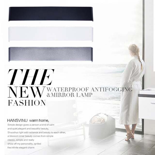 Modern 9.5-44 Inches LED Wall Lamps for Bedroom living room bathroom as Art Decoration Sconce Light 90-260V Aluminum Lampshade