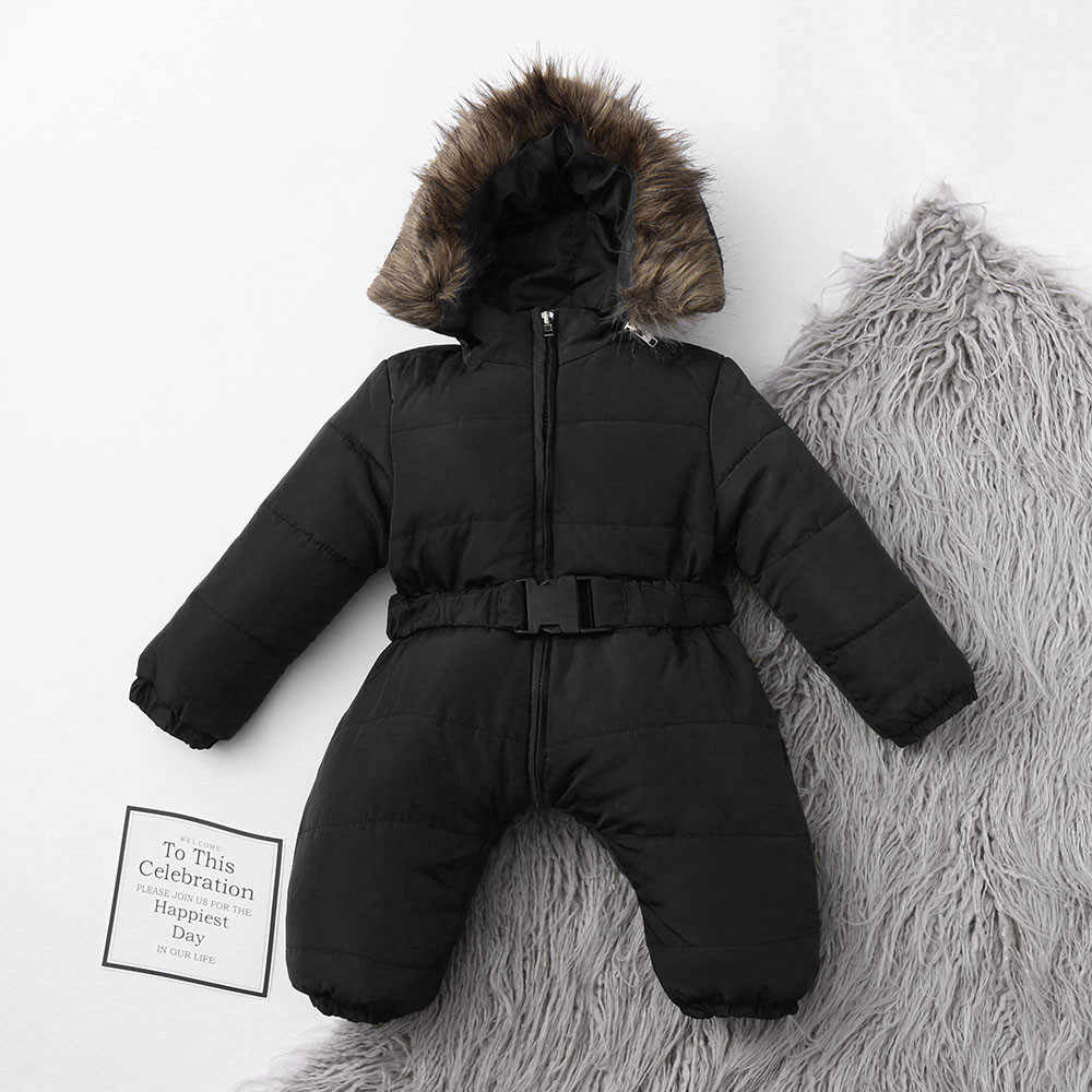 e46a538199fb ... Winter Infant Baby Boy Girl Romper Jacket Hooded Jumpsuit Warm Thick  Coat Outfit baby girl christmas ...
