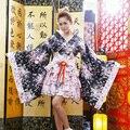 Японские Кимоно Косплей Лолита Аниме Горничной Равномерное Наряд Костюм Платье LB