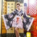 Quimono japonês Cosplay Lolita Anime Empregada Uniforme Roupa Traje Vestido LB