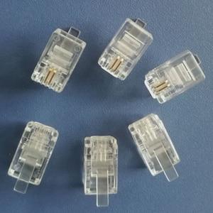 Image 3 - 500X Modular Connector 4P2C Gold Plated Plug High Quality