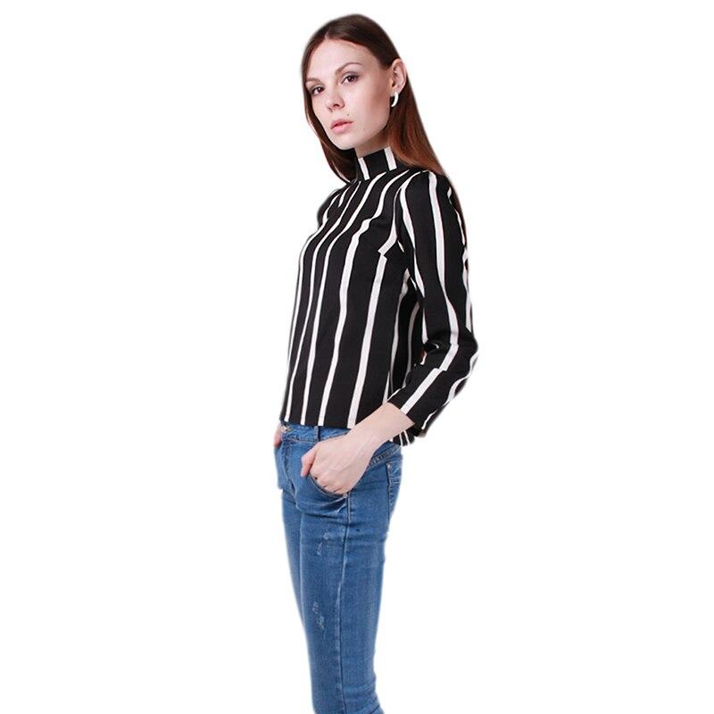 primavera outono mulheres camisas chiffon blusa listrada do vintage elegante de moda de nova manga comprida