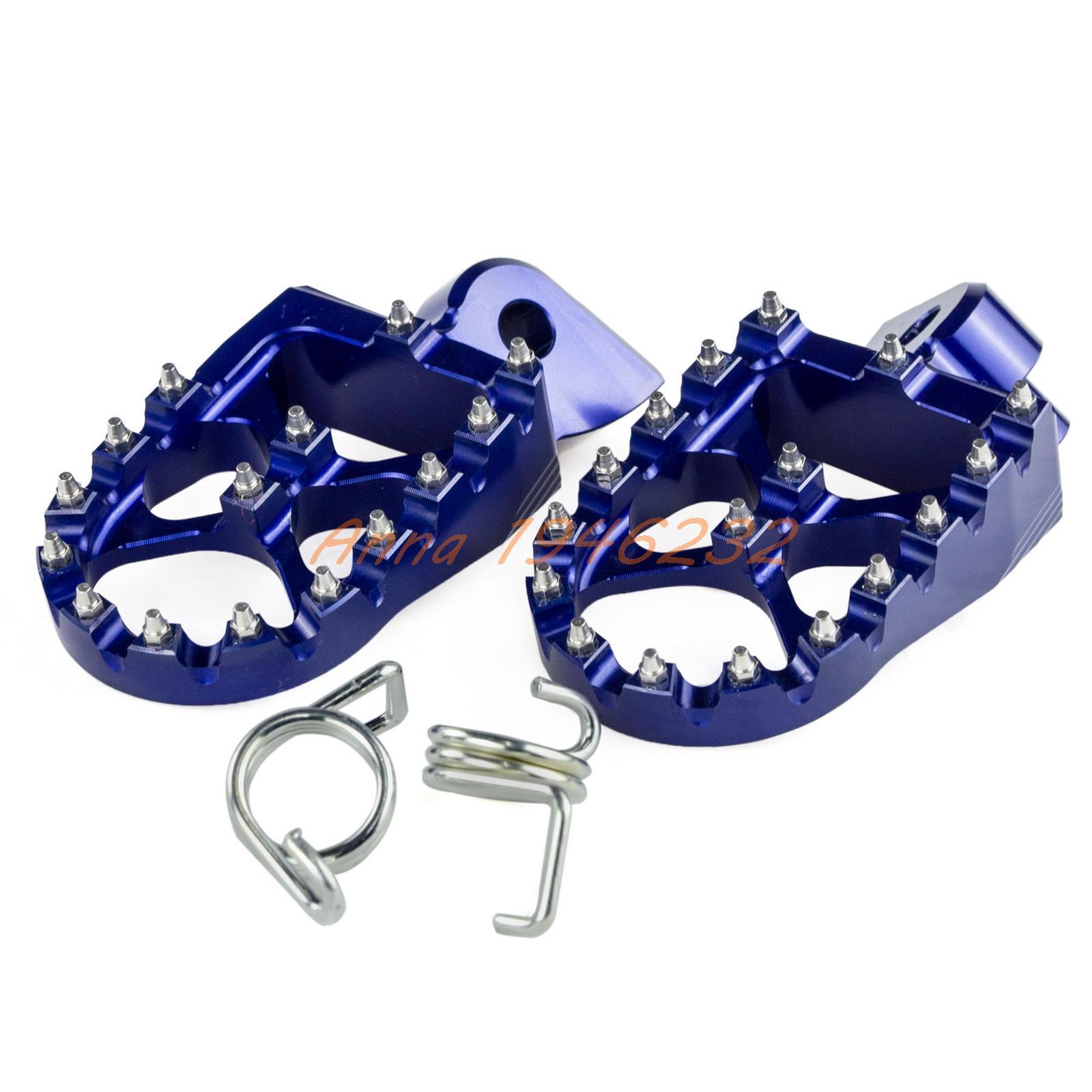 57mm 7075 blauw brede voetsteunen voetsteunen voor Husqvarna FE / FC / TE / TC 65 85 125 250 350 450 501 Husaberg TE FE 125-570