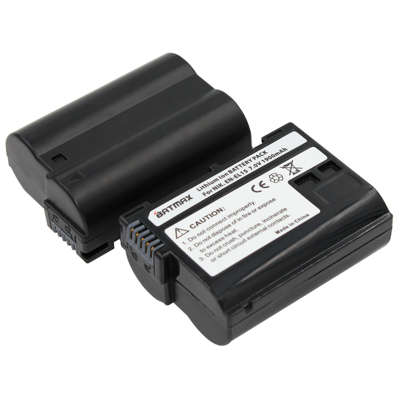 4X Bateria EN EL15 ENEL15 Batteries + LCD Dual Charger For Nikon D500,D600,D610,D750,D7000,D7100,D7200,D800,D800E,D810,D810A V1
