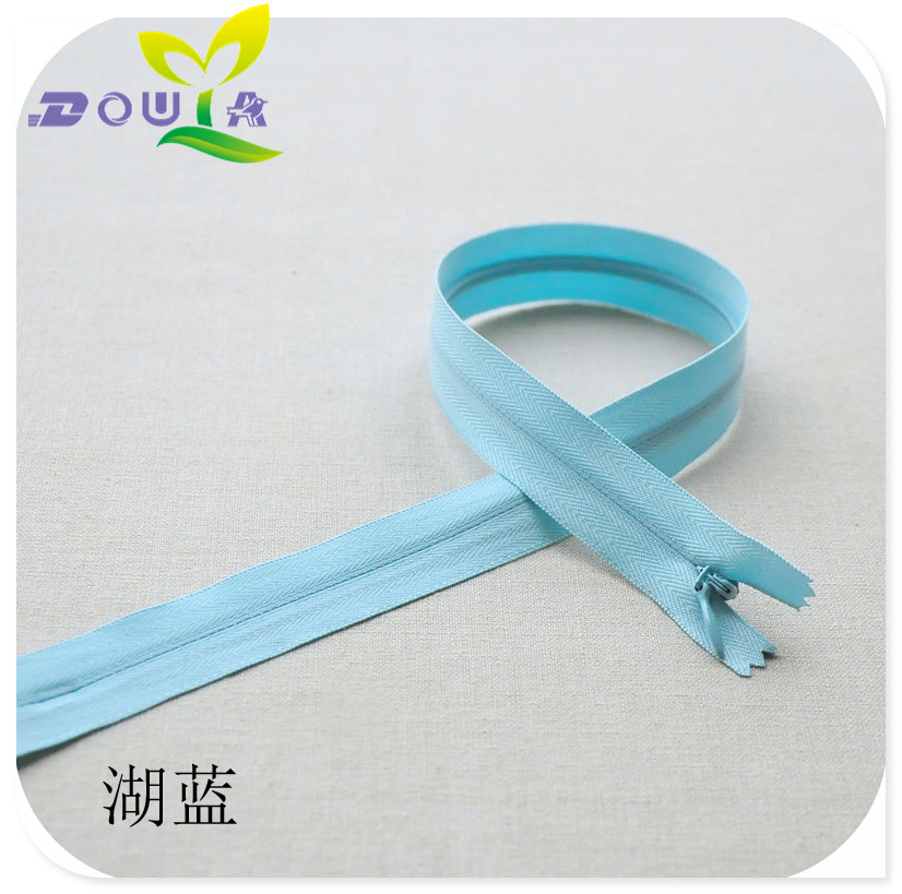 40CM colored gum invisible zipper, long skirt zipper manual DIY material