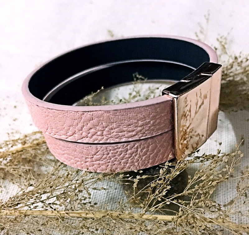Dongmu jewllery новый ручной розовый кожаный браслет Интимные аксессуары для Для женщин сосать HASP контракт браслет Мода ...