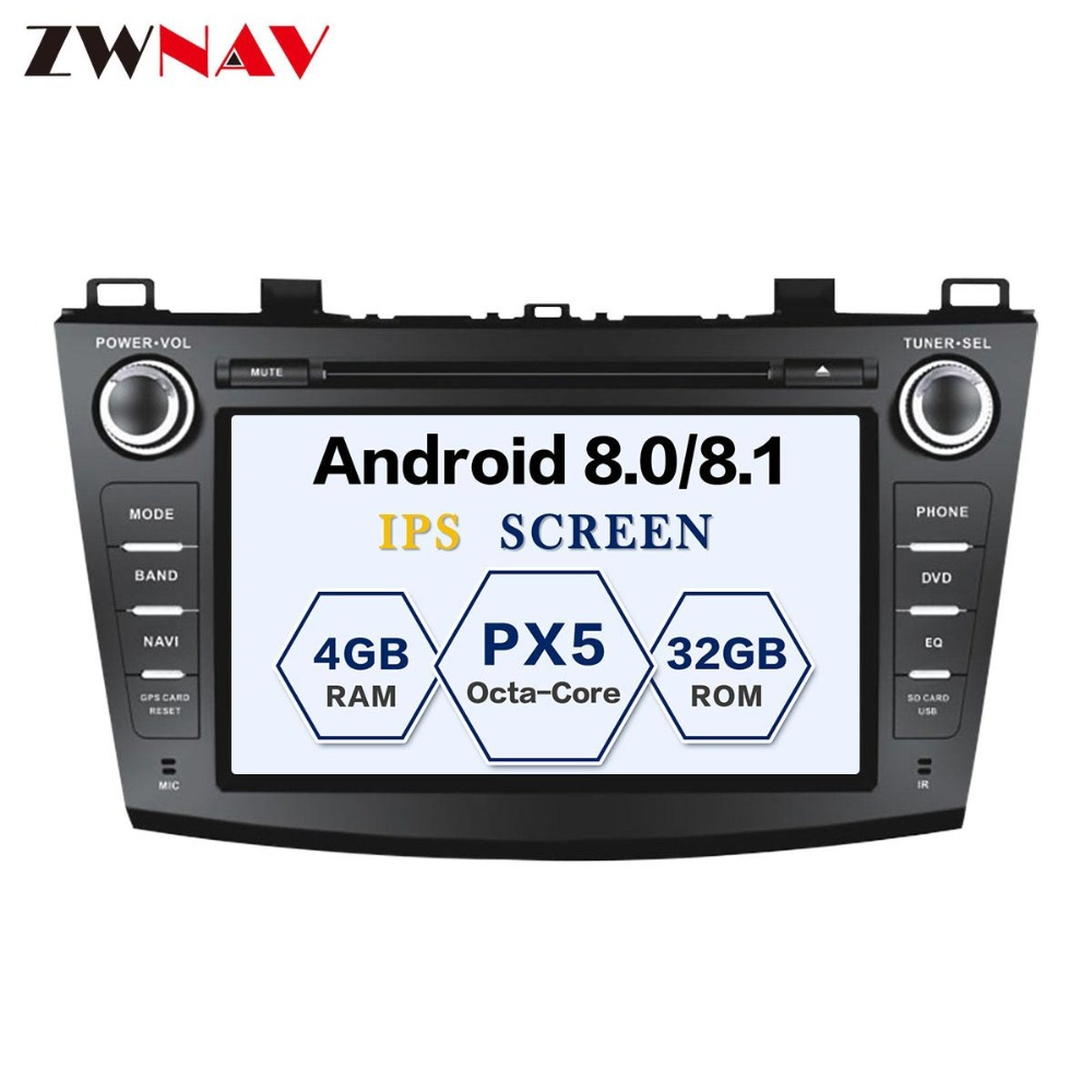 8 Core Android 8.1 RAM 4G ROM 32GB 2Din Car GPS Navigation DVD Player Unit For Mazda 3 Axela 2009-2013 Free map and camera 8 core ram 4g rom 32g 8 inch auto pc 8 core android 8 0 gps navigation car dvd player head unit for volkswagen touareg 2010 2015
