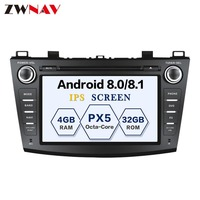 8 Core Android 8.1 RAM 4G ROM 32GB 2Din Car GPS Navigation DVD Player Unit For Mazda 3 Axela 2009 2013 Free map and camera