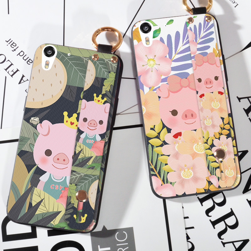Cute Wrist Strap Phone Cases For HTC Desire Eye 820 825 cartoon pig Scrub case For HTC desire 10 lifestyle animal silicone Cover