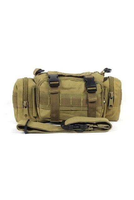 TEXU Men Waist Pack Shoulder Bag Handbag Military Multi-purpose Bag Mud color